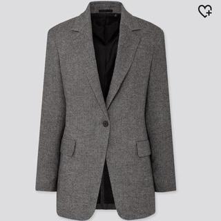 UNIQLO - UNIQLO ツイードロングジャケット