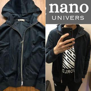 ナノユニバース(nano・universe)のnano universベロア調フーディブルゾンメンズ送料込(ブルゾン)