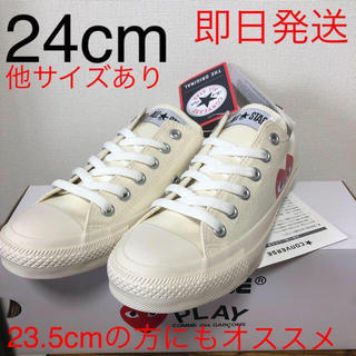 コムデギャルソン(COMME des GARCONS)の国内モデル!24cm プレイコムデギャルソン コンバース ローカット ホワイト(スニーカー)