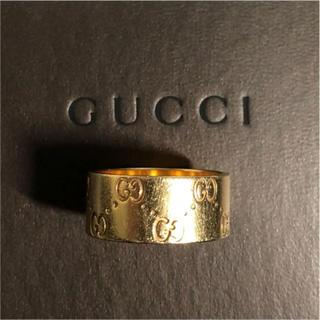 グッチ(Gucci)のGUCCI   アイコン  幅広   k18 (リング(指輪))