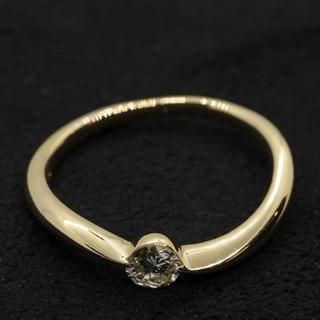 ダイヤモンドリング0.2ct  k18  YG(リング(指輪))