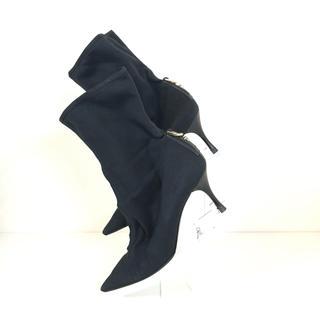 グッチ(Gucci)のGUCCI ショートブーツ グッチ ブラック 37 1/2 サイズ(ブーティ)