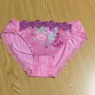 Wacoal - 未使用 ワコール 花柄 刺繍 レース ショーツ Lサイズ ピンク系