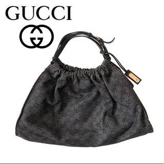 Gucci - GUCCI グッチ gg柄 デニム生地 ハンドバッグ トートバッグ