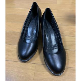 パンプス ブラック 24.5cm 未使用(ハイヒール/パンプス)