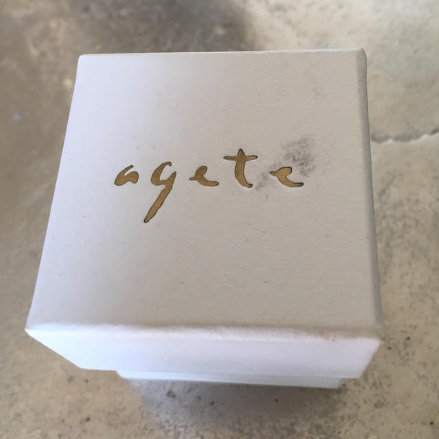 agete(アガット)の【 アガット 】水晶♪ピンキーリング レディースのアクセサリー(リング(指輪))の商品写真