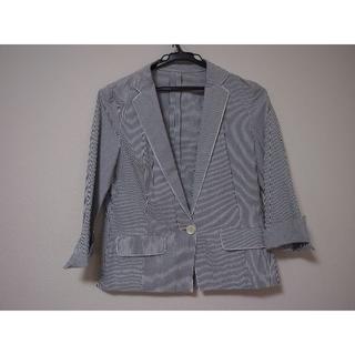 ユナイテッドアローズ(UNITED ARROWS)のユナイテッドアローズ シャツ ジャケット 青 七分袖(テーラードジャケット)
