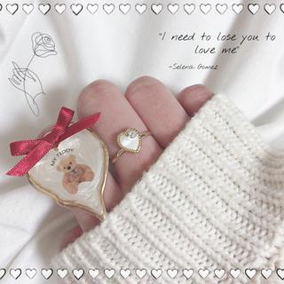 プレゼントはくまさんリング セット 指輪 ハンドメイド