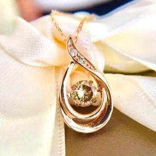 美品 k18 ピンクゴールド ダイヤモンドネックレストップ(ネックレス)