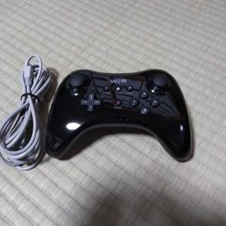 Wii U - 最終値下げ WiiU プロコントローラー pro コントローラー ブラック 黒
