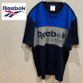 リーボック(Reebok)の90s Reebok リーボック クラシック ビッグロゴ Tシャツ M ネイビー(Tシャツ/カットソー(半袖/袖なし))
