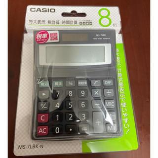 カシオ(CASIO)のCASIO 電卓 MS-7LBK-N(オフィス用品一般)
