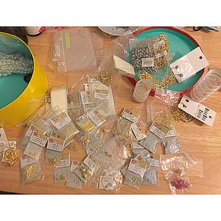 キワセイサクジョ(貴和製作所)のアクセサリーパーツ新品 パール メッキまとめ売り 総額約7000円相当(各種パーツ)