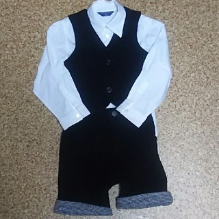 コムサデモード(COMME CA DU MODE)の【値下げ】コムサデモード白長袖シャツ100&ベスト90&ズボン(ドレス/フォーマル)