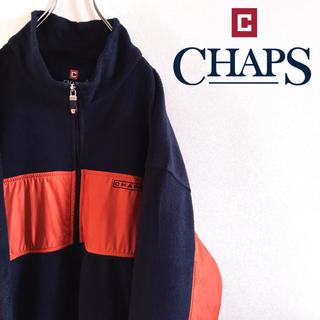 CHAPS - 古着 CHAPS チャップス フリースジャケット ラルフローレン ビッグサイズ
