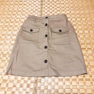 ローリーズファーム(LOWRYS FARM)のローリーズファーム モカベージュ 台形スカート(ミニスカート)