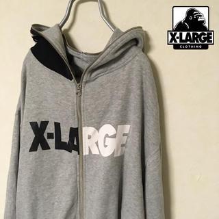 エクストララージ(XLARGE)のX-LARGE バイカラーロゴ ジップパーカー(パーカー)