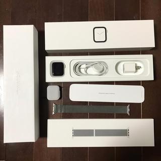 アップルウォッチ(Apple Watch)のApple Watch Series 4 GPSモデル 40mm シルバー(腕時計(デジタル))