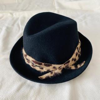 ビームス(BEAMS)の新品未使用 ビームス 中折れ帽 ブラック(ハット)