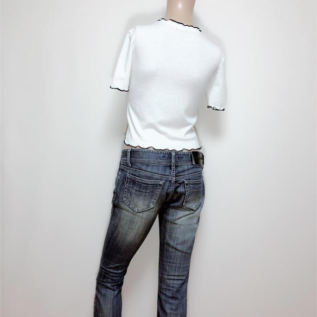 ZARA(ザラ)のZARA フリル リブ カットソー トップス♡ベルシュカ H&M マウジー レディースのトップス(カットソー(半袖/袖なし))の商品写真