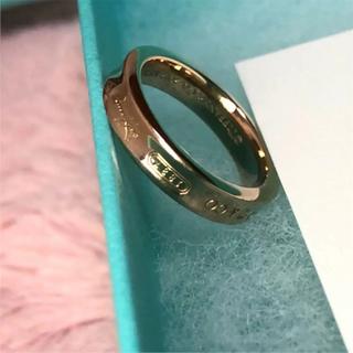 ティファニー(Tiffany & Co.)のTIFFANY&Co. 1837♡ナローリング♡RUBEDO♡付属品付!7号♡(リング(指輪))