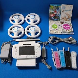 Wii U - Wiiu 本体 wii付属ケーブル カラフルリモコン付き マリオカート一式セット