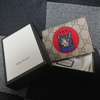 Gucci - 新品未使用!GUCCI グッチ 二つ折り財布 2018年限定品 猫
