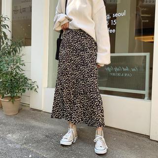 ザラ(ZARA)の♡再入荷♡ レオパード プリーツ スカート(ロングスカート)