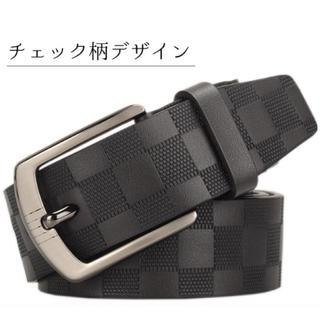 ベルト メンズ カジュアル 本革 ビジネス おしゃれ 革 レザー ブラック 黒 (ベルト)