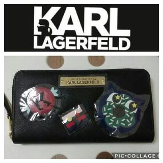 カールラガーフェルド(Karl Lagerfeld)の新品 カールラガーフェルド☆長財布 西武そごう限定 男女兼用(財布)