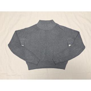 ココディール(COCO DEAL)のCOCO DEAL グレー ショート丈ニット(ニット/セーター)