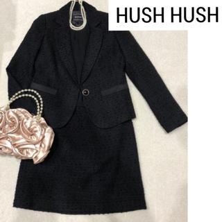 HusHush - 【L】HUSH HUSH ブラック スーツ 七五三 卒業式