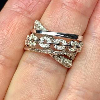エタニティリング ダイヤモンド k18 WG ダイヤモンドリング(リング(指輪))
