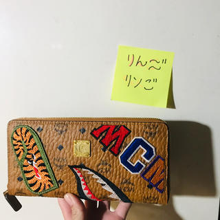 A BATHING APE - MCM × BAPE® SHARK ZIP WALLET