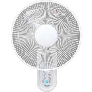 ホワイト壁掛けTEKNOS 壁掛扇風機 30cm 首振り タイマー付 リモコン付(扇風機)