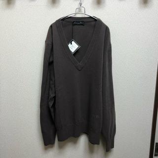 クリスチャンディオール(Christian Dior)の90s 未使用 イタリア製 Christian Dior 深Vネック セーター(ニット/セーター)