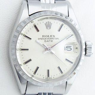 ロレックス(ROLEX)の超美品 ロレックス パーペチュアルデイト レディース 希少ギャランティ付 OH済(腕時計)