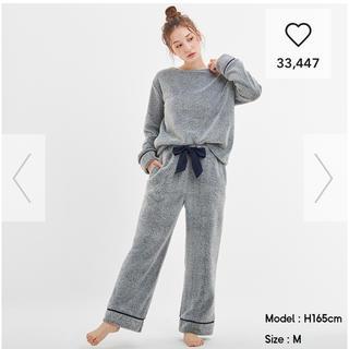 GU - マシュマロフィールラウンジセット シリーズのパジャマ ネイビー Sサイズ 月末迄