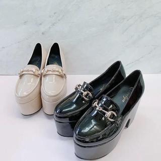 エブリン(evelyn)のエブリン evelyn オリジナルビットローファー 厚底(ローファー/革靴)