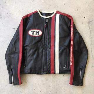 TOMMY HILFIGER - 90s トミーヒルフィガー ショット ライダースジャケット L