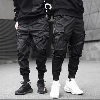韓国ファッション ブラック ジョガーパンツ L