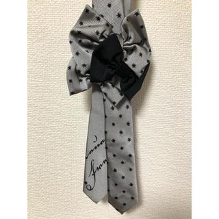 Neb aaran do(ネバアランド) リボニッシュネクタイ 黒×グレー