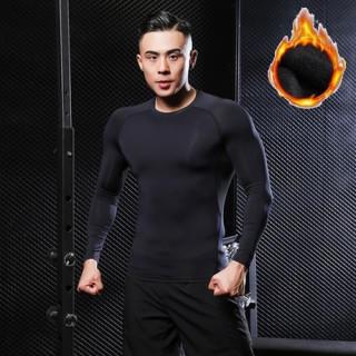 L 黒 アンダーウェア コンプレッションウェア メンズ 裏起毛 長袖 シャツ