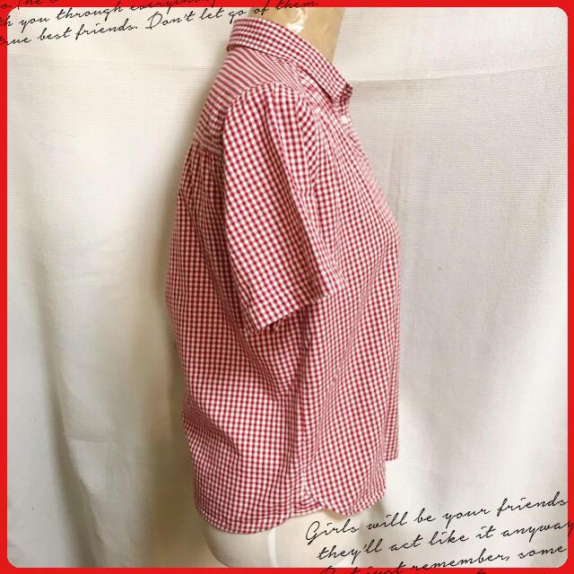 GU(ジーユー)のGU♡ギンガムチェック 半袖シャツ 美品  レディースのトップス(シャツ/ブラウス(半袖/袖なし))の商品写真