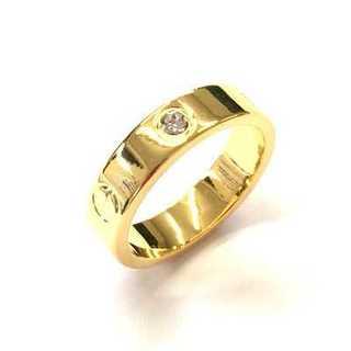 大人気☆ファッションリング ゴールド スワロフスキー社製クリスタル使用(リング(指輪))