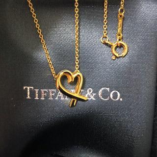 Tiffany & Co. - Tiffanyラヴィングハートk18イエローゴールドネックレス