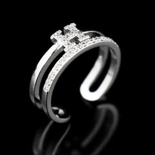 ダチュラ(DaTuRa)の新品♥指輪/2連リング/ストーン/シルバー/サイズ調節可能/可愛い(リング(指輪))