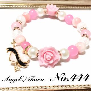 土日限定一点大特価♡ピンク薔薇コラボ天然石ブレスレット