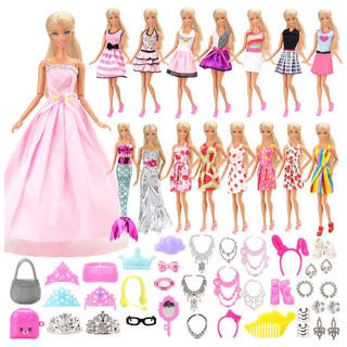 Barbie - バービー 洋服セット 15点アクセサリーセット40個