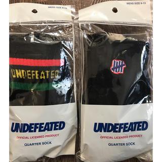 undefeated quarter sock ソックス 2足セット 新品未使用